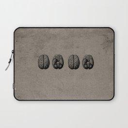 Row o' Brains - Engraving - Vintage - Old Black, White & Brown Laptop Sleeve