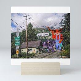 Howdy from Hyder (Alaska) ! Mini Art Print