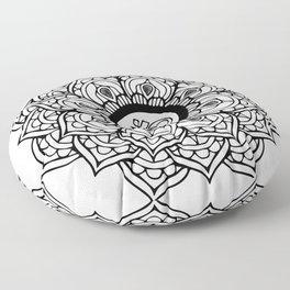 Om Hindu sacred sound symbol Mandala Floor Pillow