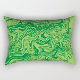 Green Agate Liquid Marble Rectangular Pillow