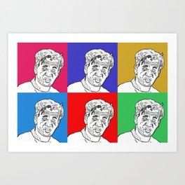 Gordon Is Rather Upset Art Print