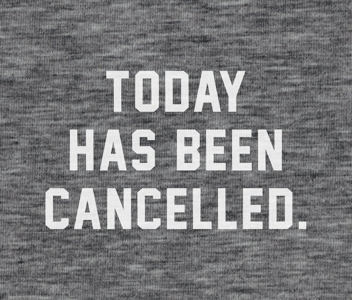 Today has been Cancelled Metal Travel Mug