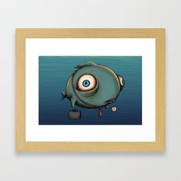 work fish Framed Art Print