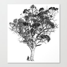 Tree and Gangster Canvas Print