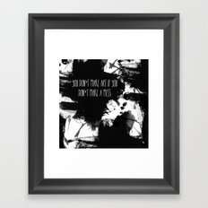 Graphic_ARt quote  Framed Art Print