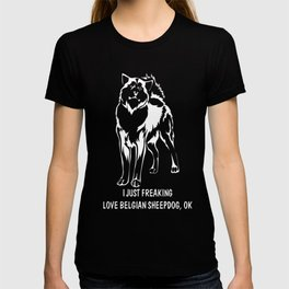Belgian-Sheepdog-tshirt,-just-freaking-love-my-Belgian-Sheepdog T-shirt
