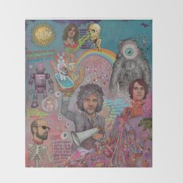 The Flaming Lips - Fear Of Slippery Brains, Electric Toasters & Evil Natured Robots From Outer Space Throw Blanket