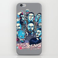 gaming iPhone & iPod Skins featuring Inside Gaming by MikeRush