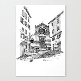 Piazza nel centro storico di Genova Canvas Print