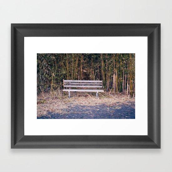 Bench in Brick, NJ Framed Art Print
