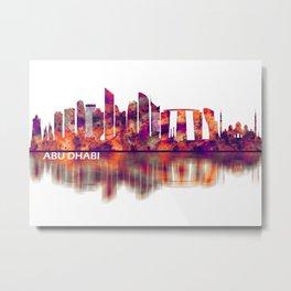 Abu Dhabi UAE Skyline Metal Print
