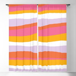 cali beach stripes Blackout Curtain