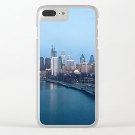Philadelphia Skyline Clear iPhone Case