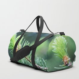Spruce branch in spring. Duffle Bag