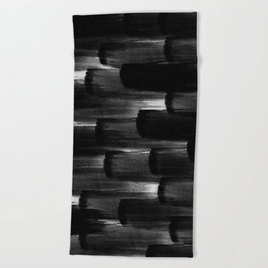 Watercolor Brushes Beach Towel
