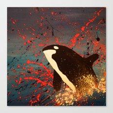 Whale Outbreak Canvas Print