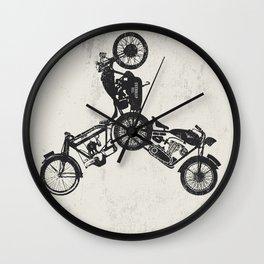 4 wheels Wall Clock