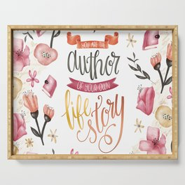 YOU ARE THE AUTHOR Serving Tray