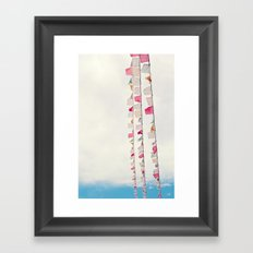 prayer flags no. 2 Framed Art Print