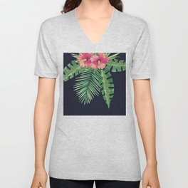 Tropical Cluster Dark Unisex V-Neck