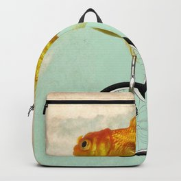 unicycle gold fish -2 Backpack