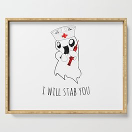 Halloween Costume I Will Stab You Nurse Gift Serving Tray