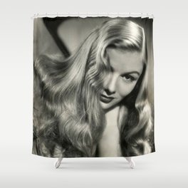 Veronica Lake black and white photography / black and white photographs Shower Curtain