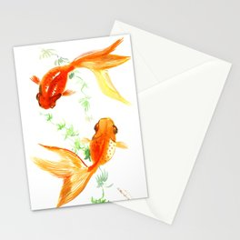 Goldfish, Feng Shui Asian Watercolor Stationery Cards