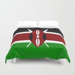 Flag of Kenya Duvet Cover