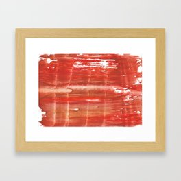 Rowan red stained watercolor texture Framed Art Print