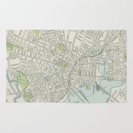 Vintage Map of New Haven Connecticut (1901) Rug