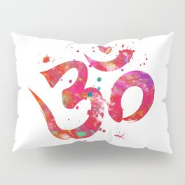Colorful Om Symbol Pillow Sham