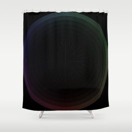 R Experiment 15 - fuzzy aim Shower Curtain