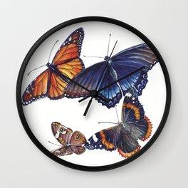North American Butterflies Wall Clock