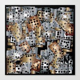 metal scraps Canvas Print