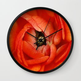 Orange Buttercup Abstract Wall Clock