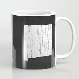 New Mexico State Map Chalk Drawing Coffee Mug