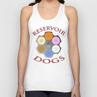 quentin tarantino Tank Tops featuring Reservoir Dogs, Tarantino, Illustration by pathos_design