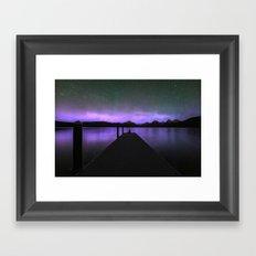 Purple Night on the Water Framed Art Print