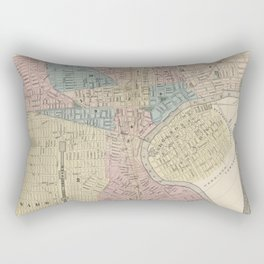 Vintage Map of Newark NJ (1879) Rectangular Pillow