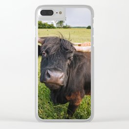 Highland Cow - Head Tilt Clear iPhone Case