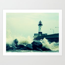 Breakwater Lighthouse - 2 Art Print