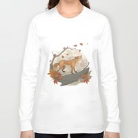 rabbit Long Sleeve T-shirts featuring Fox and rabbit by Laura Graves