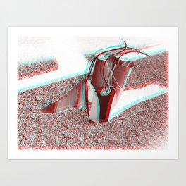 Dream Spaceship ver. `2  (3-D) Art Print