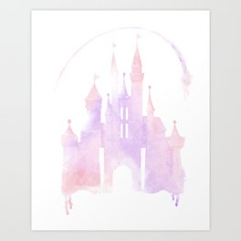 Princess Castle, water color Art Print