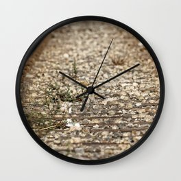 Train Tacks Wall Clock