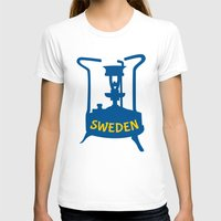 sweden T-shirts featuring Sweden | Brass Pressure Stove by mailboxdisco