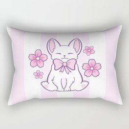 Sakura Cat 02 Rectangular Pillow
