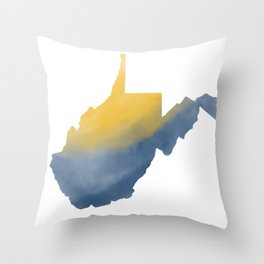 West Virginia State Map Watercolor Art 2 Gifts Throw Pillow