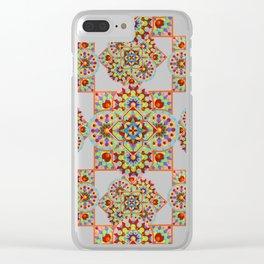 Chartres Mandala Clear iPhone Case